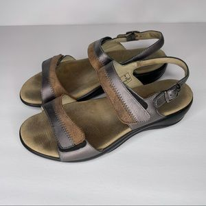 SAS Nudu heel strap sandals in Dusk size 9W